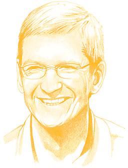 Desenho de Tim Cook na TIME