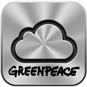 Ícone do iCloud com logo do Greenpeace