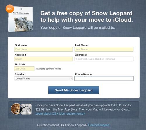 Apple oferece o Snow Leopard gratuitamente para usuários do MobileMe