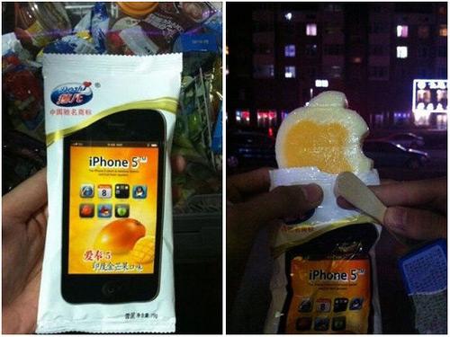 Picolé de iPhone 5 em Taiwan