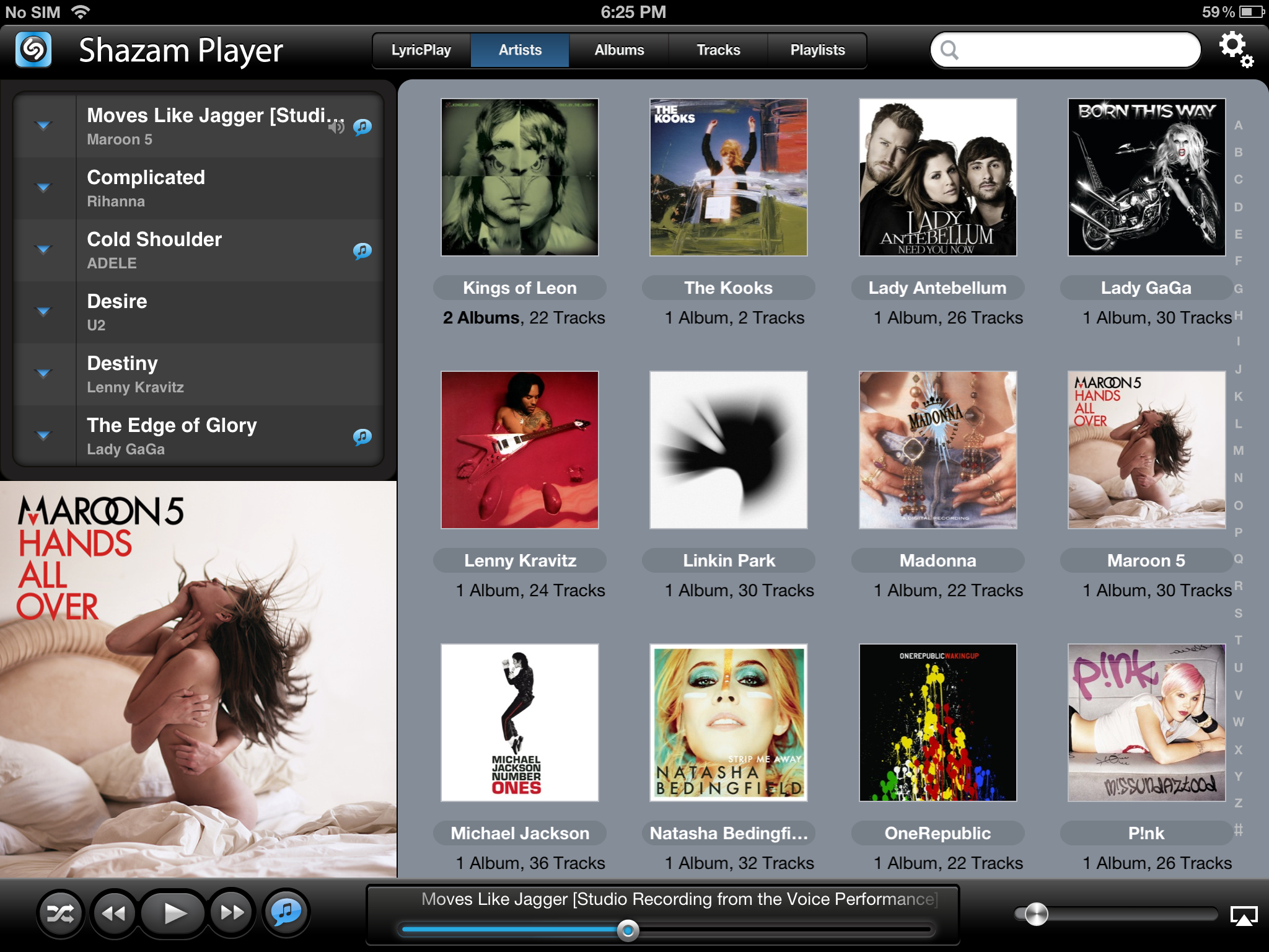 Shazam Player no iPad
