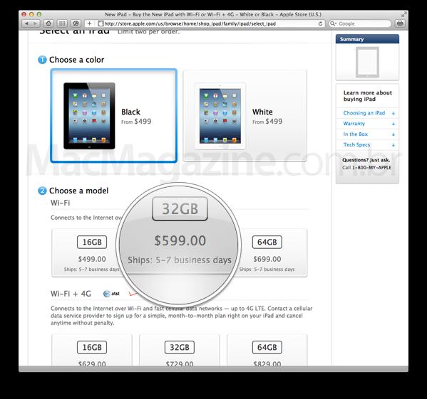 Entrega do novo iPad