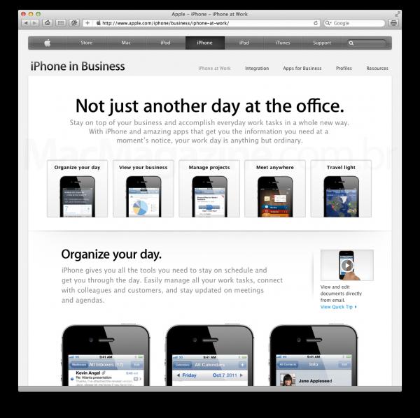 Apple.com - iPhone at Work