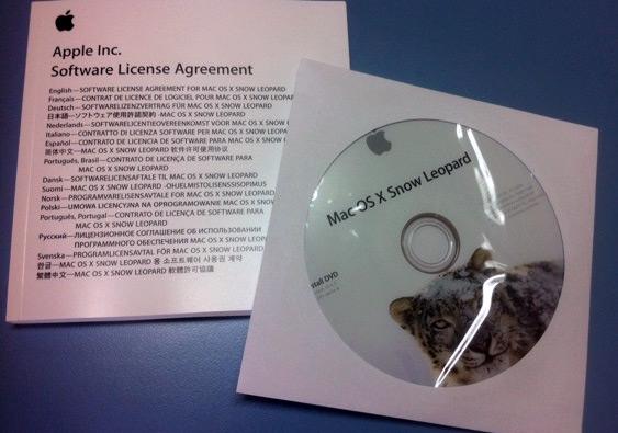 DVD do Mac OS X Snow Leopard