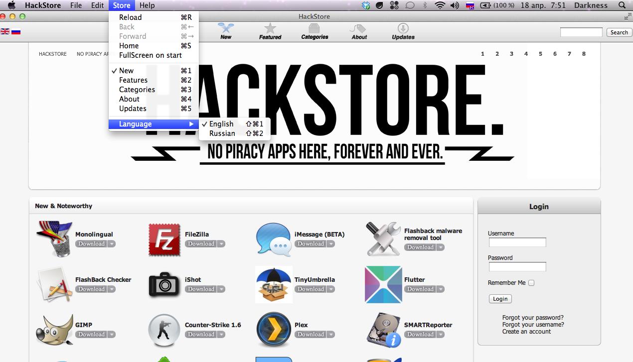 HackStore no Mac