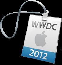 Ingresso/crachá para a WWDC 2012
