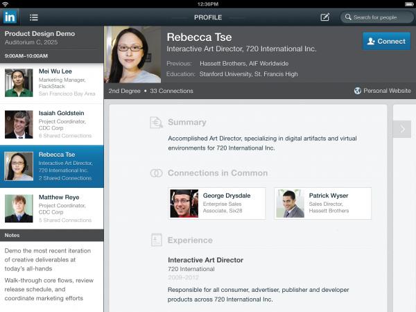 LinkedIn no iPad