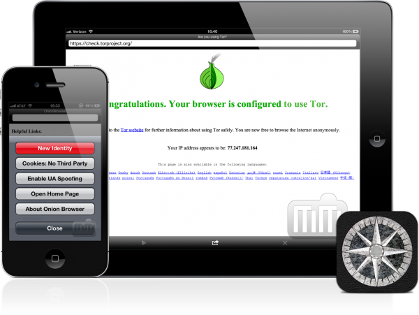 Onion Browser - iPad e iPhone