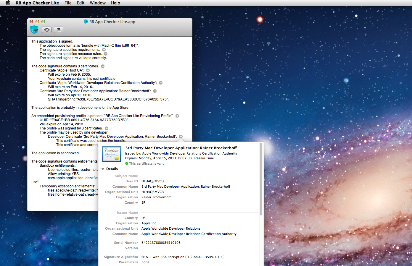 RB App Checker Lite - Mac