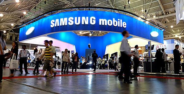 Estande da Samsung mobile