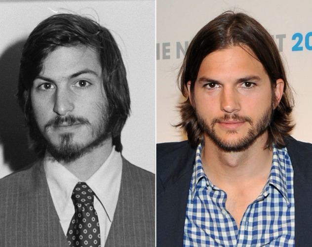 Steve Jobs e Ashton Kutcher