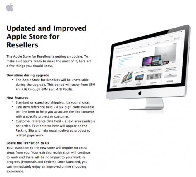 Apple Store para revendedoras