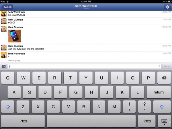 Update do Facebook Messenger