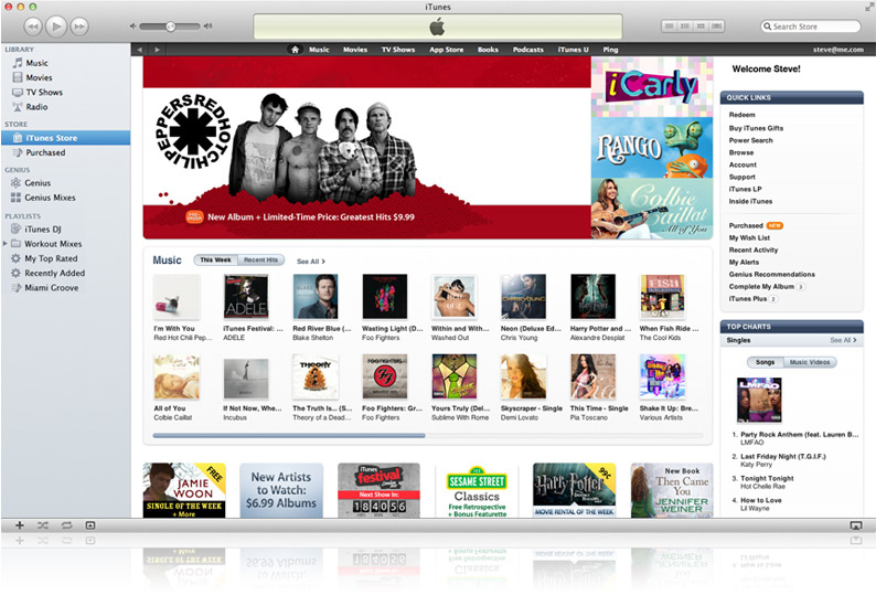 iTunes Store no Mac