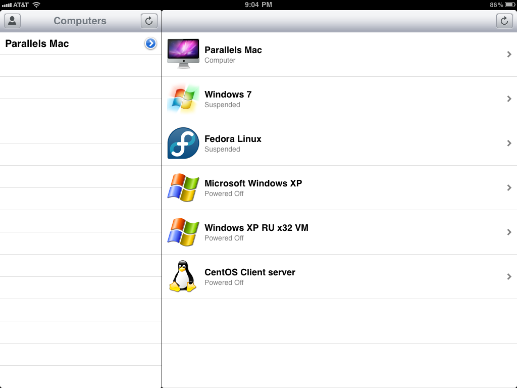 Parallels Mobile no iPad