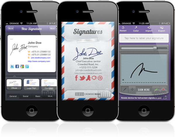 Signatures - iPhones