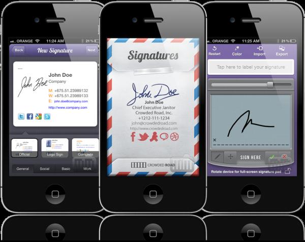 Signatures - iPhones