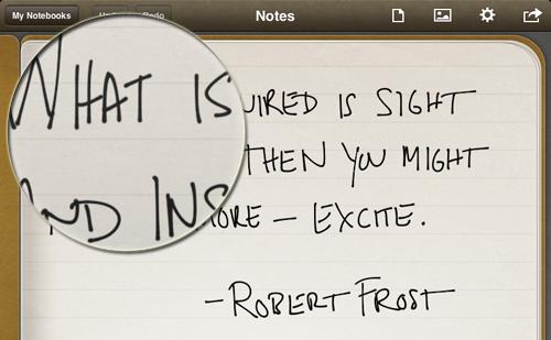 Penultimate na tela Retina do iPad