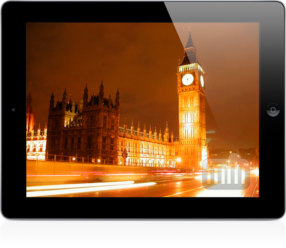 Big Ben, do Reino Unido, no iPad