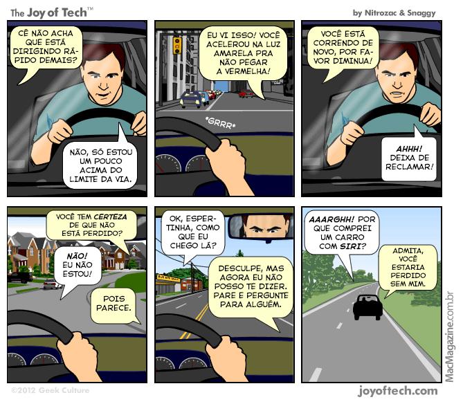 Joy of Tech - Siri no carro