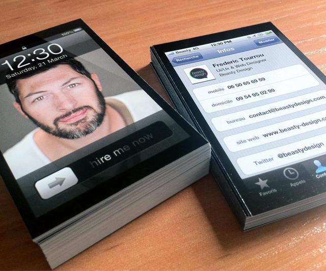 Cartão de visita à la iPhone