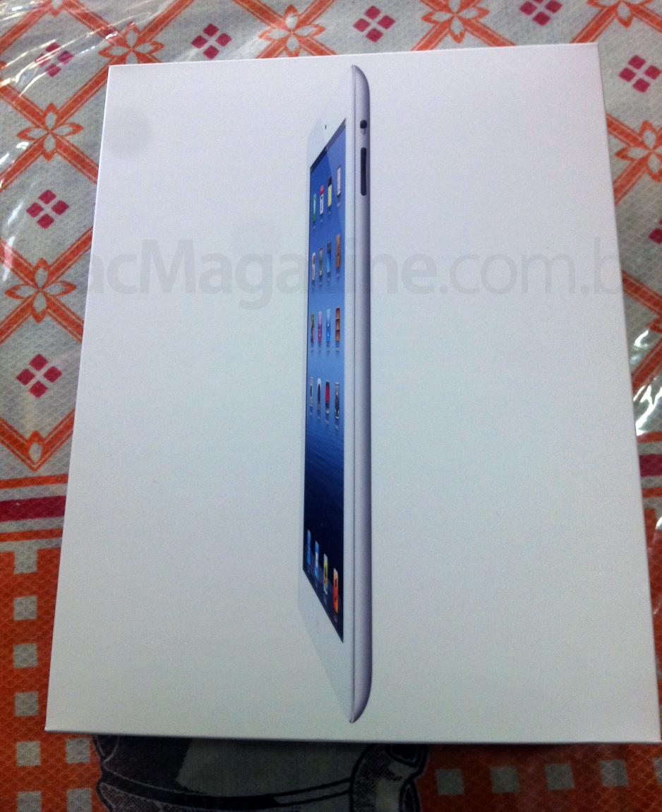 Novo iPad recebido no Brasil