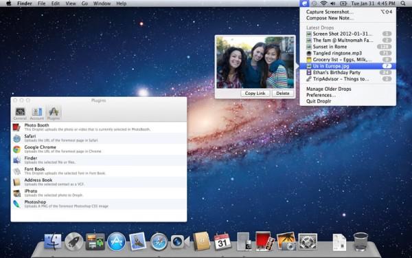 Droplr para Mac