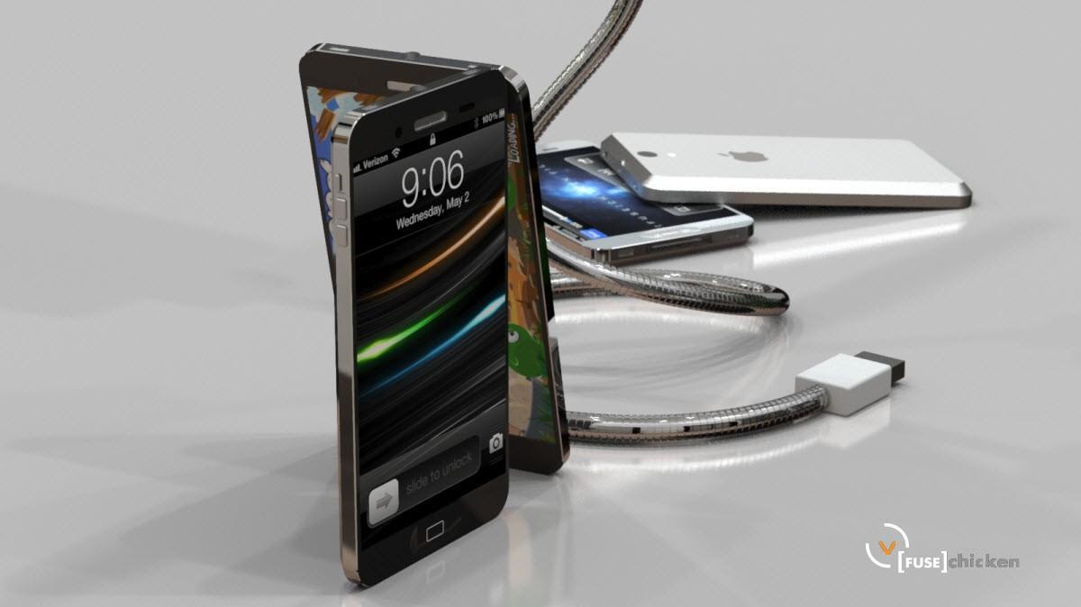 Conceito/mockup de novo iPhone