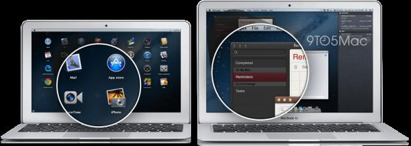 MacBooks Air com telas Retina