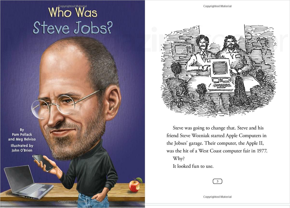 Livro infantil sobre Steve Jobs