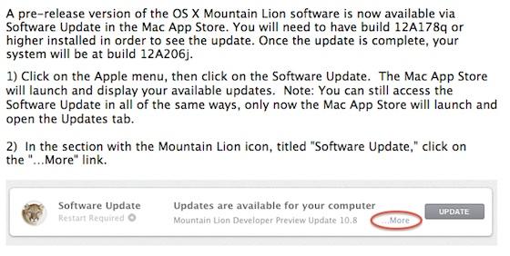 Atualização para o OS X Mountain Lion
