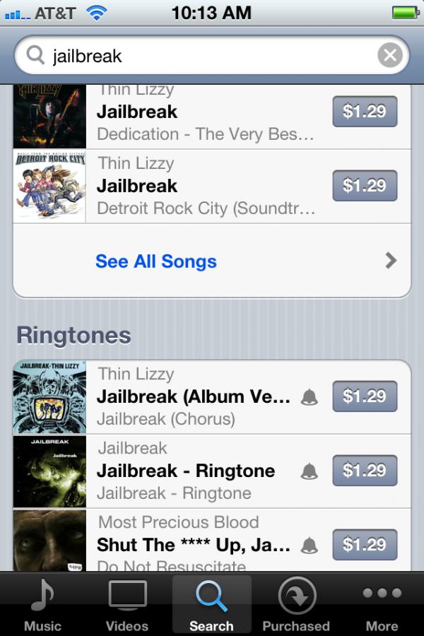 Jailbreak de volta à iTunes Store