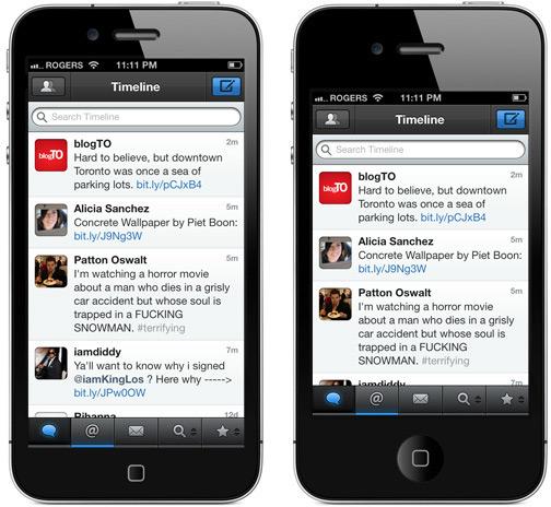 Mockup de iPhone com tela maior - app