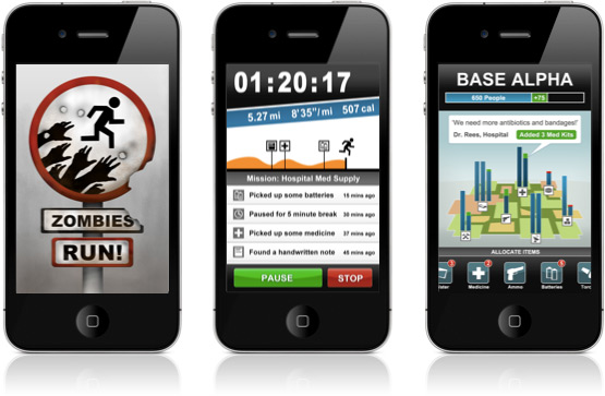 Jogo Zombies, Run! em iPhones