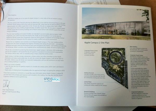 Folder sobre o novo campus da Apple em Cupertino