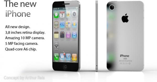 Mockup do novo iPhone - por Arthur Reis