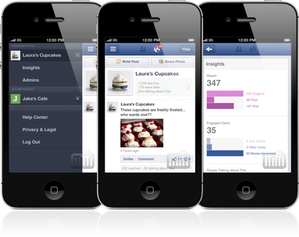 Facebook Pages Manager - iPhones