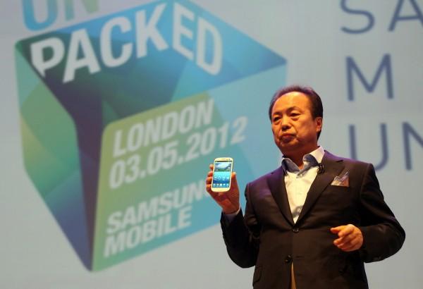 JK Shin no evento de lançamento do Galaxy S III