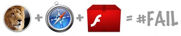 Lion + Safari + Flash = #FAIL