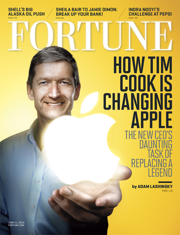 Tim Cook na capa da revista FORTUNE