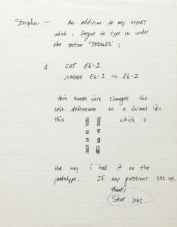 Memo de Steve Jobs - Atari