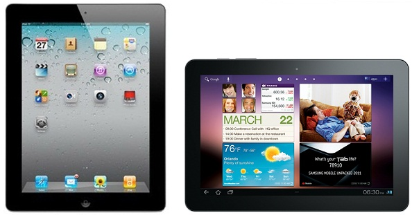 iPad 2 vs. Galaxy Tab 10.1