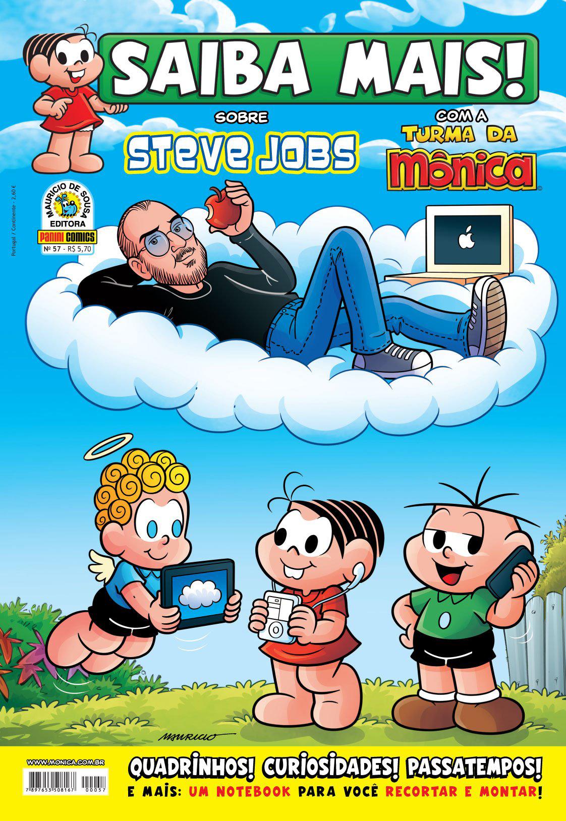 Steve Jobs na Turma da Mônica
