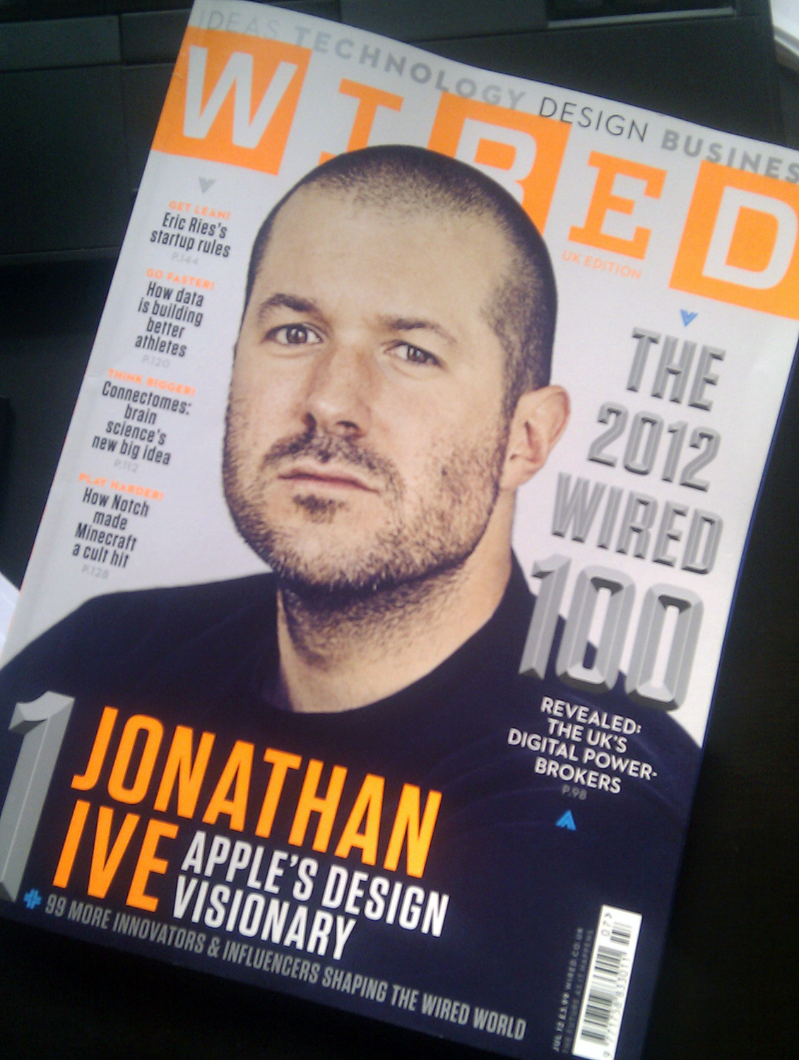 Sir Jonathan Ive na Wired 100