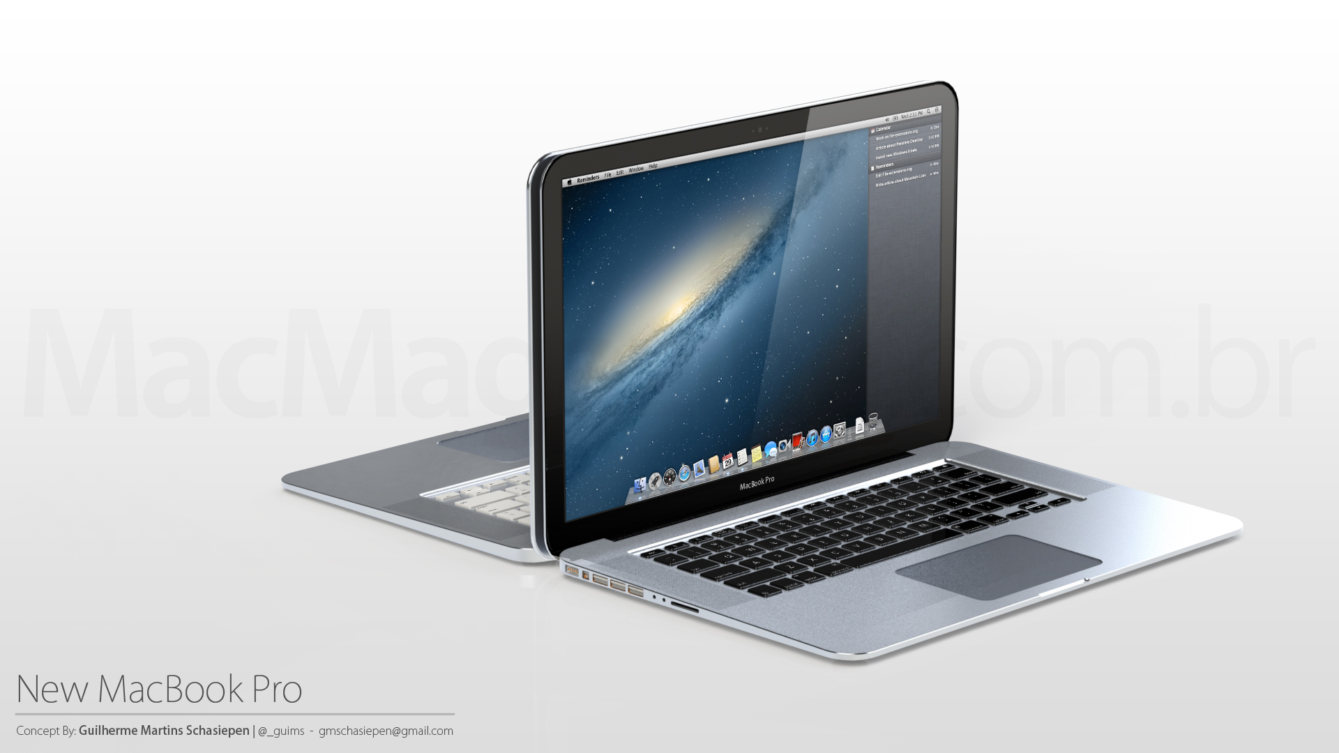 Conceito de novos MacBooks Pro - por Guilherme Schasiepen