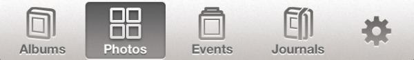 Barra inferior do app da WWDC 2012