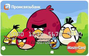 Cartão de crédito - Angry Birds