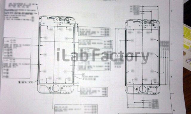 Desenho esquemático do novo iPhone