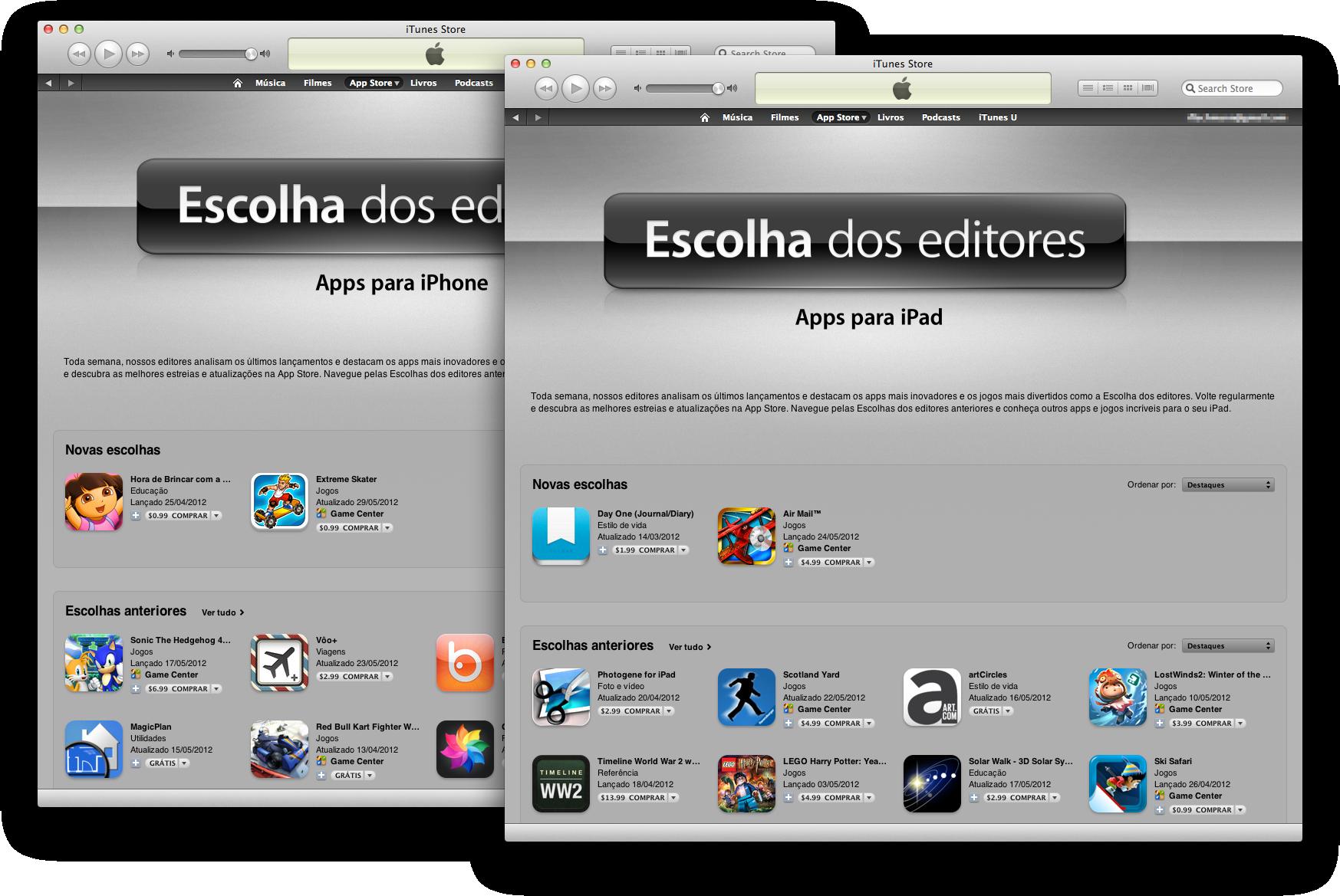 Escolha dos editores na App Store