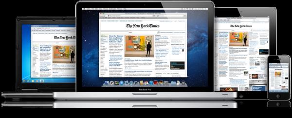 Safari em PC, MacBook Air, iPad e iPhone